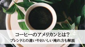 コーヒーのアメリカンとは?ブレンドとの違いやおいしい淹れ方も解説